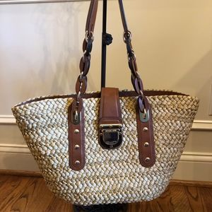 Santorini Straw Michael Kors Shoulder Bag